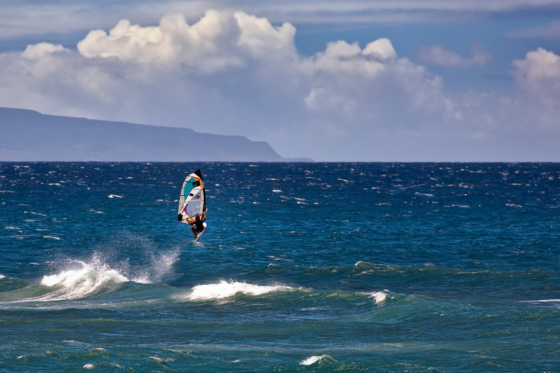 Maui:  Wind Surfing on the North Shore