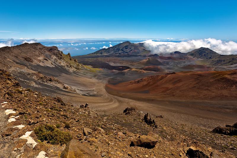 Maui:  Lava field of Haleakala Volcano.