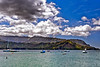 """Kauai: Hanalei Bay looking at the rock formation known as """"Puff, the magic dragon."""""""