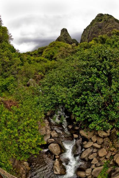 Maui:  'Iao Stream running through 'Iao Valley.