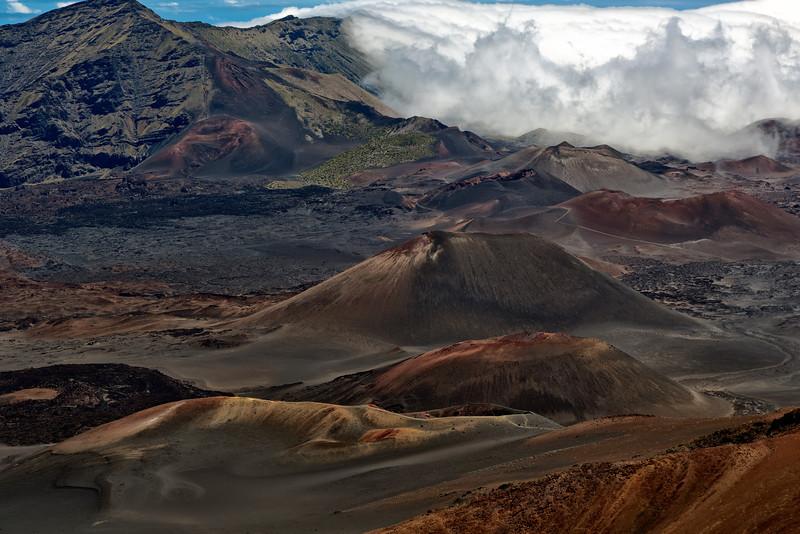 Maui:  Haleakala Volcano National Park peak, over 10,000 feet in altitude.