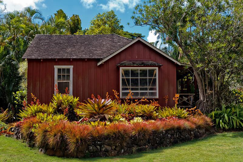 Kauai: Old farmhouse in Allerton garden (NTBG)
