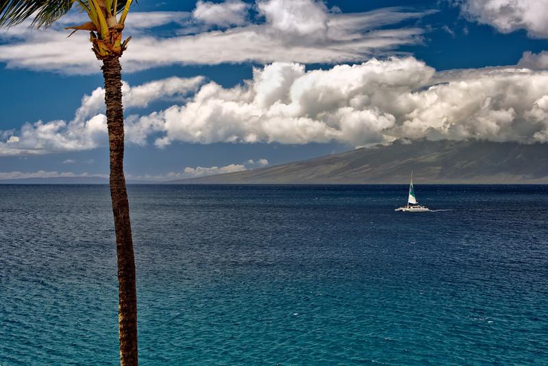 Looking from Maui to Moloka'i