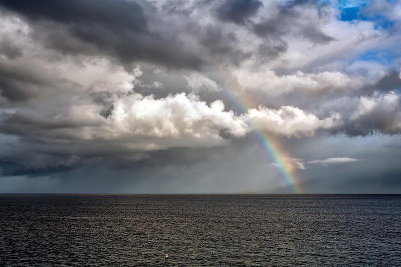 Maui:  Rainbow over the Pacific.