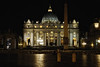 St Peter's Piazza at night - Rome Italy