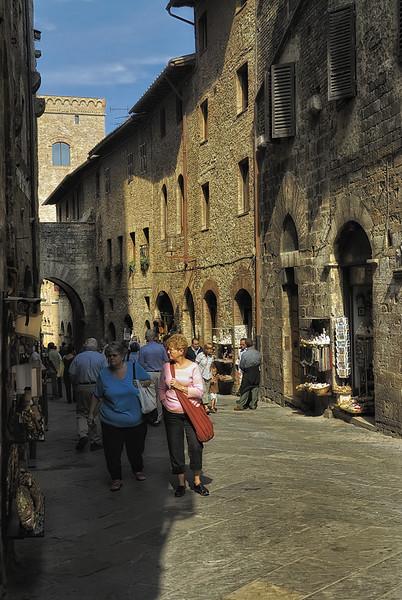 Street in San Gimignano Italy