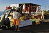 Roadside vendor on Amalfi coastline Italy