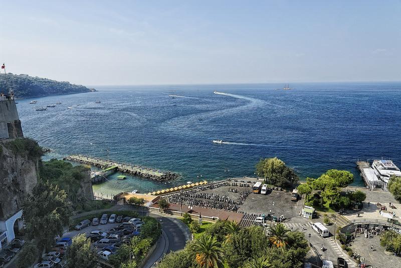 Coastline view from Sorrento Italy