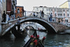 Gondola ride through canals of Venice Italy