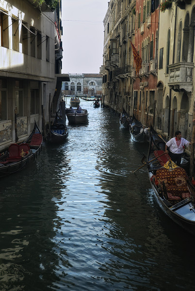 Canal with Gondolas in Venice Italy