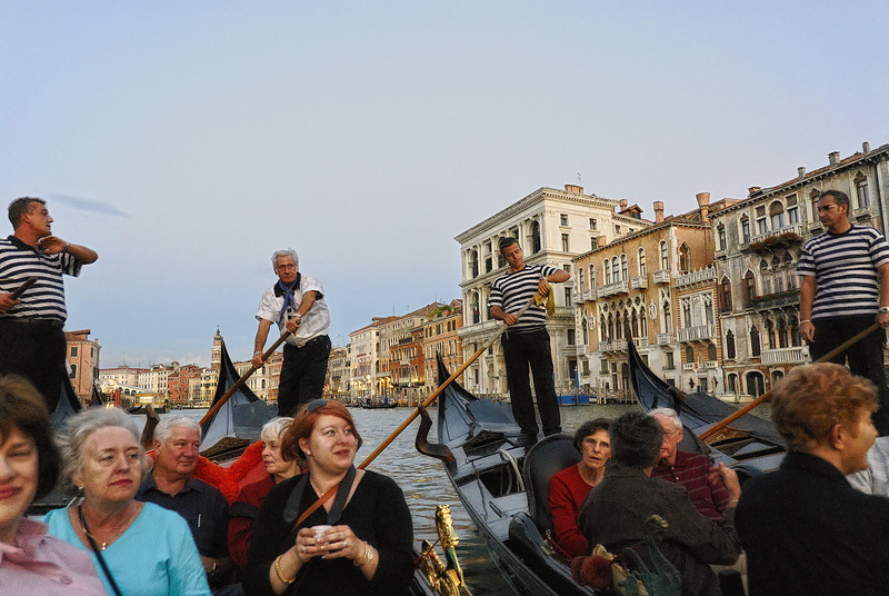 Gondola drivers group to serenade riders in Venice Italy