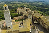 Aerial view of San Gimignano Italy