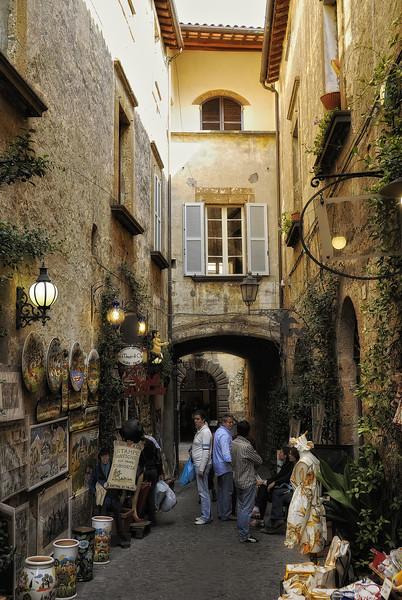 Street vendors in Orvieto Italy