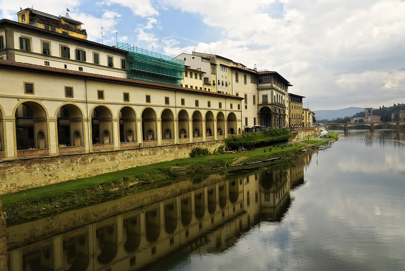 Riverside view of Florence Italy