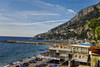 Beach in town of Amalfi Italy