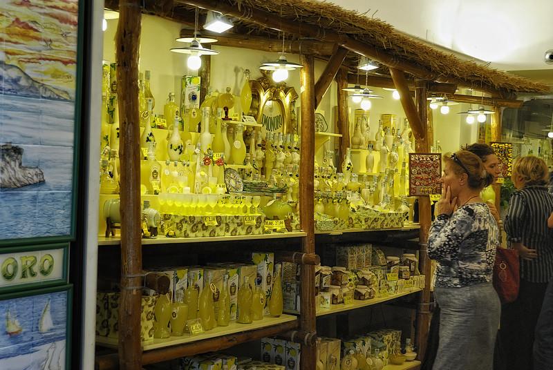 Lemoncello shop in Sorrento Italy