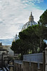 View of enclosed Vatican City from Rome Italy