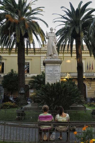 Statue in Sorrento Italy