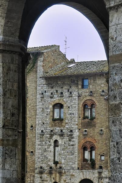 View of San Gimignano Italy housing