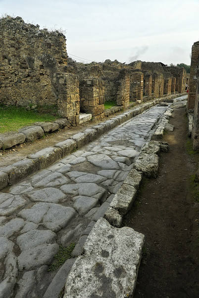 Street in Pompeii Italy