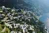 View of homes along the Amalfi Coastline Italy