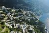 View of homes along the Amalfi Coastline Italy
