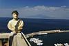View of Mt Vesuvius from Sorrento Italy