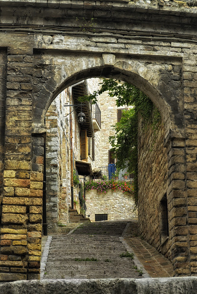 Home entrance in Assissi Italy