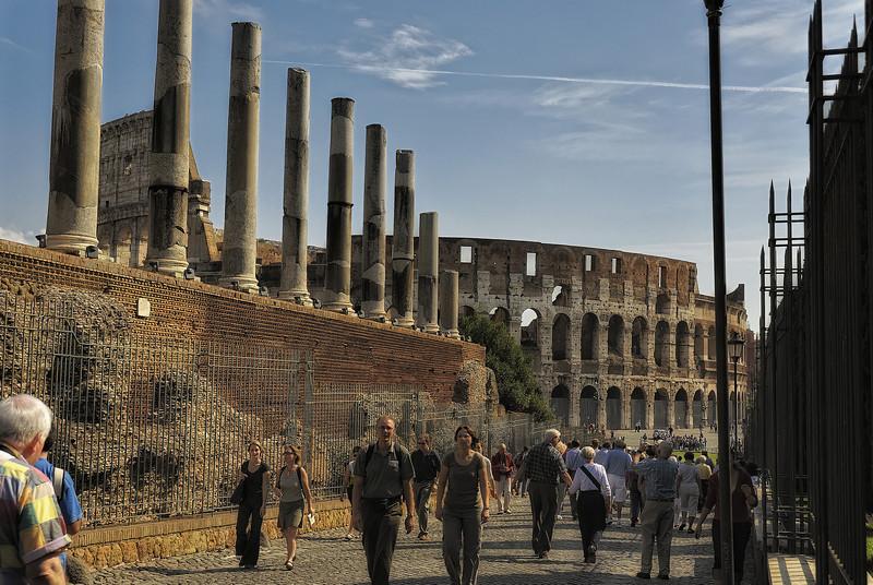 Colosseum Ruins - Rome Italy