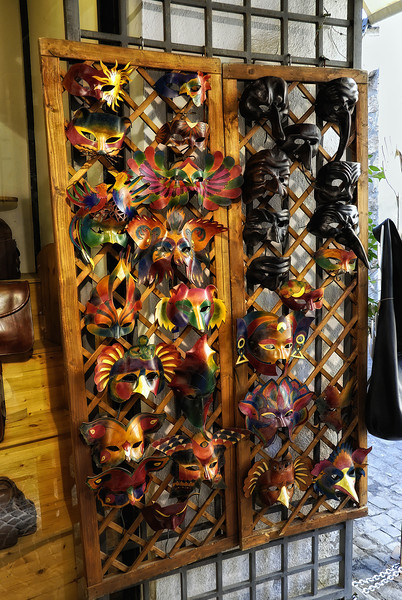 Mask shop in Orvieto Italy
