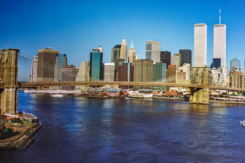This is  from a picture hanging inside the 9/11 museum.  It depicts how the NYC skyline looked in the 1970's.  I did not take this picture - merely copied it.