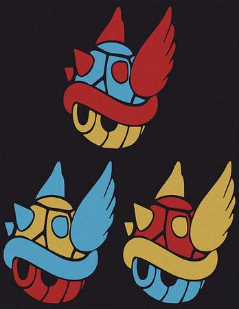 Mario - Flying Blue Shell Warhol