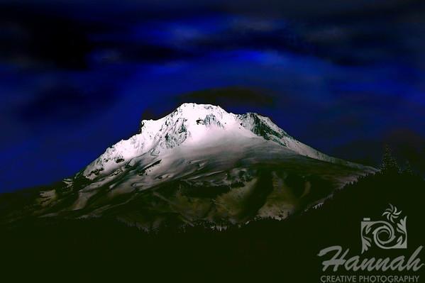 Digital art painting of Mount Hood... it is the tallest mountain in Oregon  © Copyright Hannah Pastrana Prieto