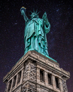 Statue of Liberty Night composite