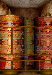 Prayer Wheel Storage
