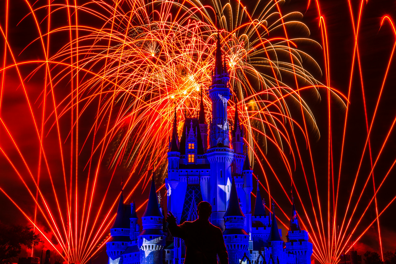 """The Sorcerer's Apprentice"" - Cinderella's Castle, Magic Kingdom - Walt Disney World   Recommended Print sizes*:  4x6  