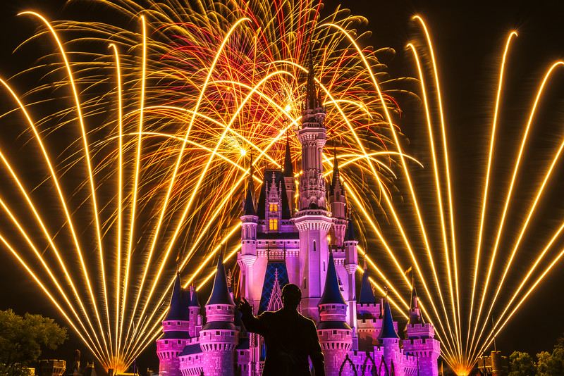 """""""Walt's Wish"""" - Cinderella's Castle, Magic Kingdom - Walt Disney World   Recommended Print sizes*:  4x6  