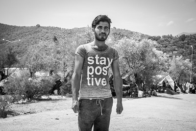 Stay Positive - Moria Camp, Isle of Lesvos, Greece