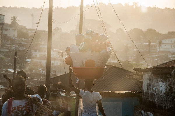 Way home from Market -  Freetown, Sierra Leone