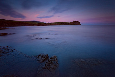 Kimmeridge Bay at dusk, Dorset