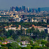 UCLA with Downtown LA in the distance.