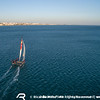 The M32 One Design, a 32 foot catamaran sailing in Cascais.