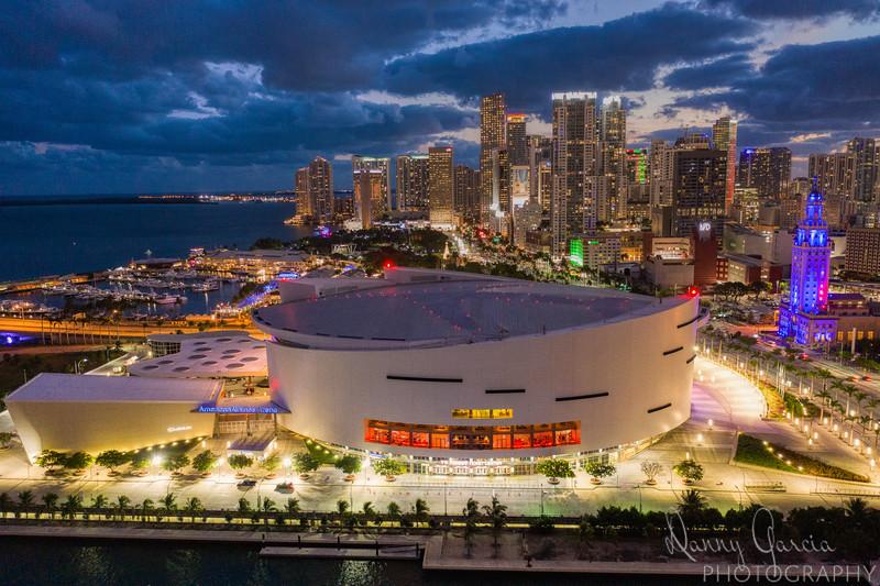 Downtown Miami Florida at Dusk