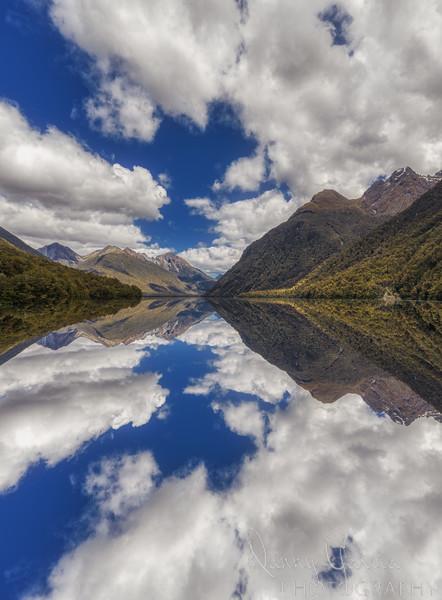 Reflections on Lake Gunn in New Zealand