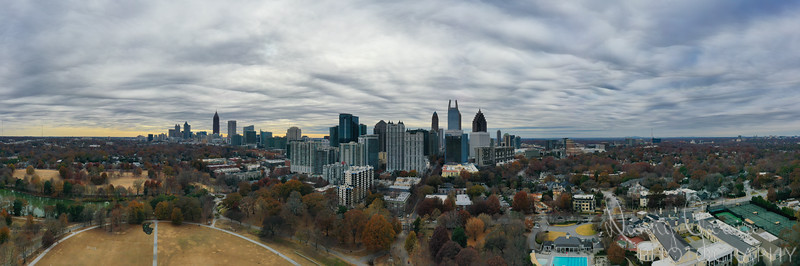 Downtown Atlanta Aerial View