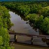 Facing SE, Haw River at Old U.S. Hwy One less than a mile from Mermaid Point where the Haw and Deep rivers merge to become the Cape Fear ll 4.19.2020
