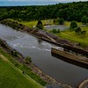 Haw River released from Jordan Lake at the B. Everett Jordan Dam ll 4.20.2020