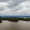 Haw River (left of center) enters Jordan Lake from the NW. ll April 30, 2020