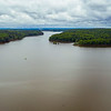 A shot from NW where the Haw enters Jordan Lake. Jordan Dam in the distance. ll April 30, 2020