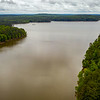 Above Robeson Creek basin, the Haw enters Jordan Lake just past the point on the left. ll May 30, 2020